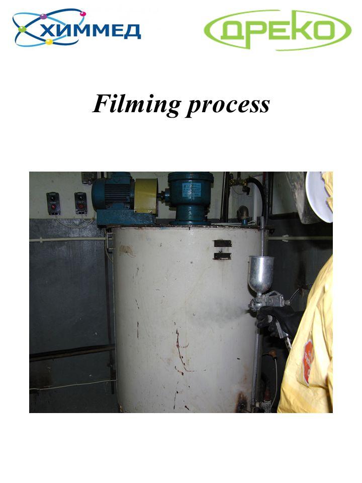 Filming process
