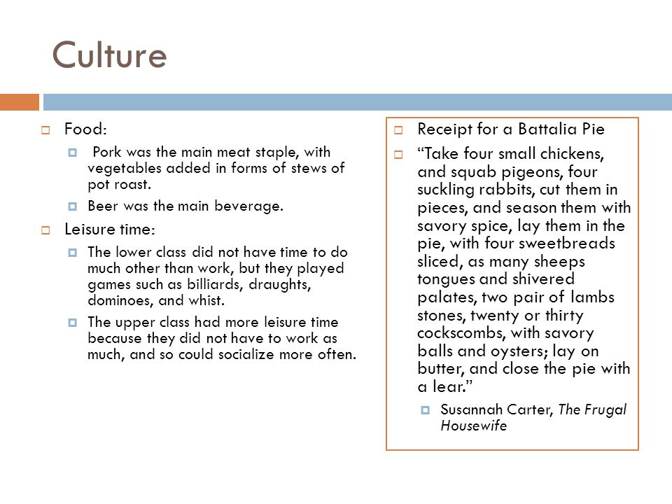 Culture Food: Leisure time: Receipt for a Battalia Pie