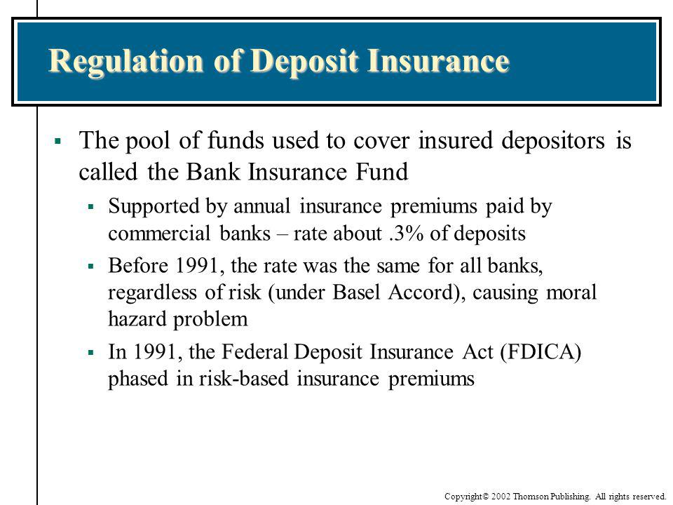 Regulation of Deposit Insurance