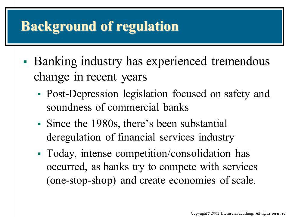 Background of regulation