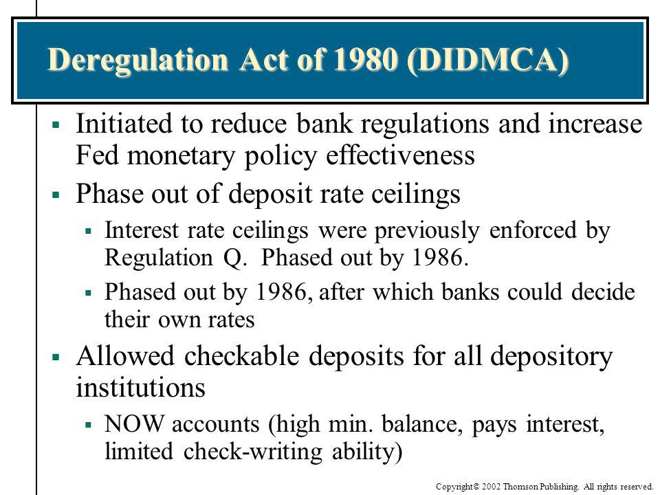 Deregulation Act of 1980 (DIDMCA)