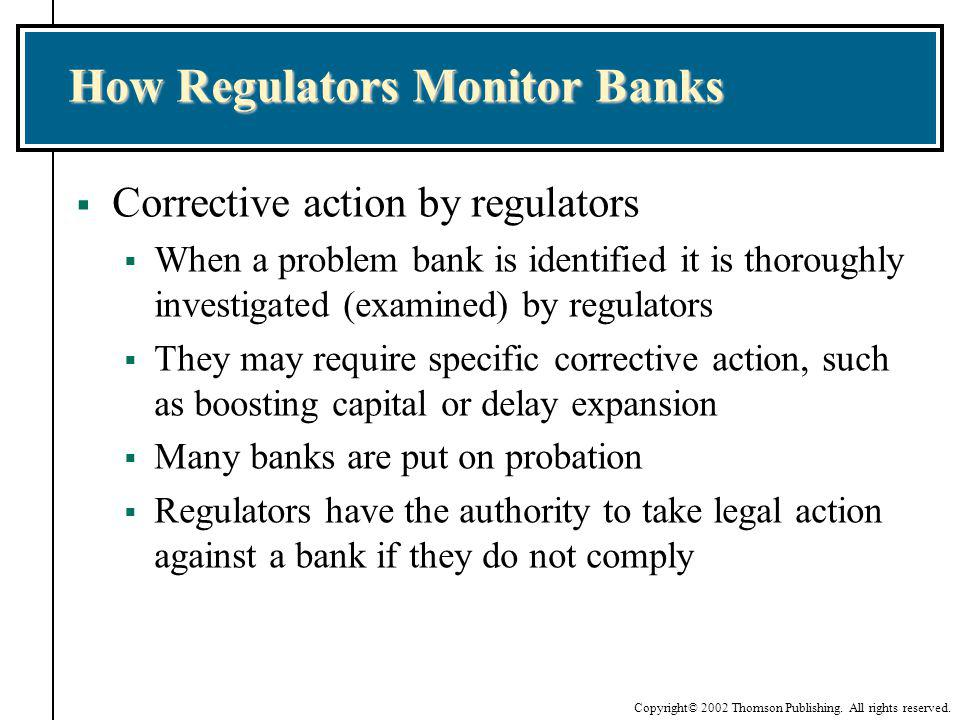 How Regulators Monitor Banks