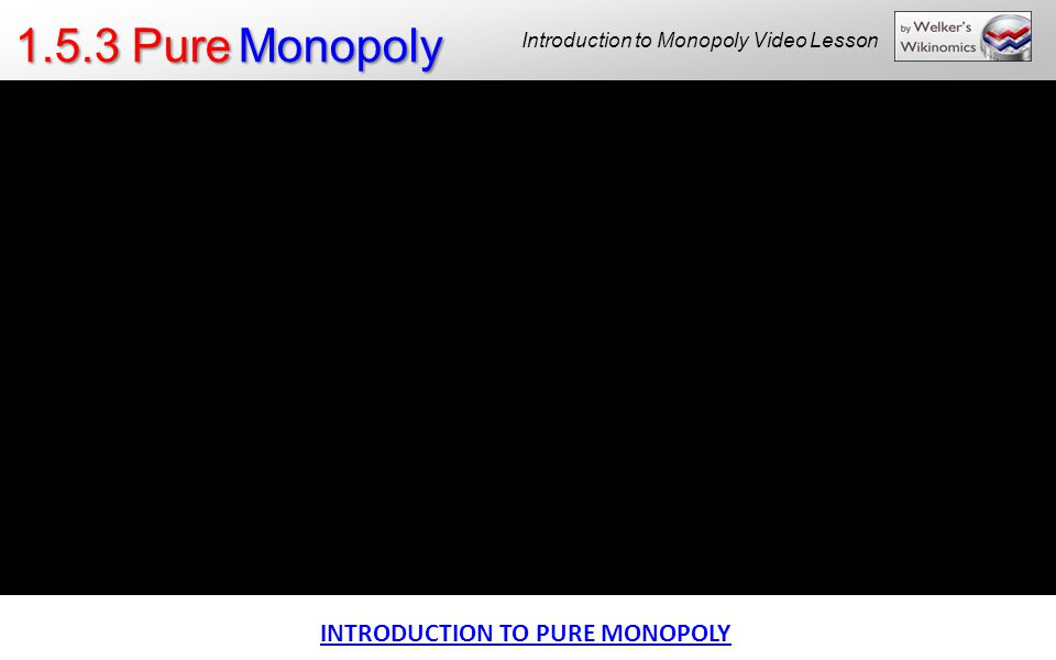 Introduction to Monopoly Video Lesson