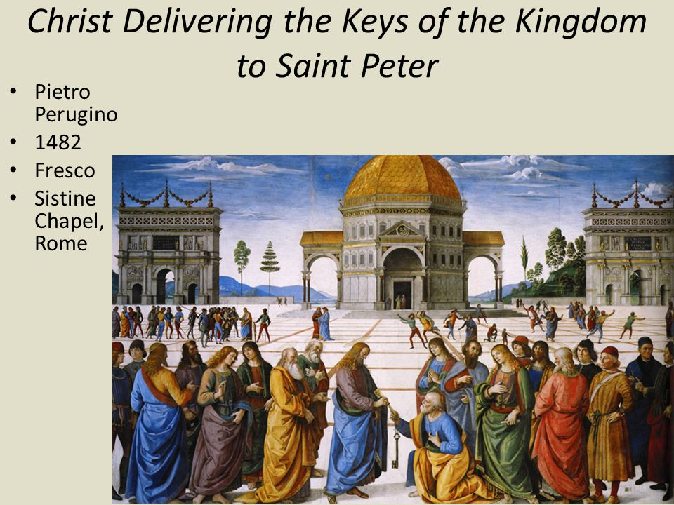 Christ Delivering the Keys of the Kingdom to Saint Peter