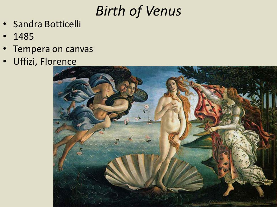 Birth of Venus Sandra Botticelli 1485 Tempera on canvas