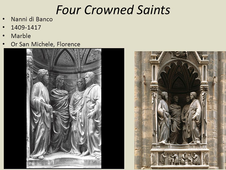 Four Crowned Saints Nanni di Banco 1409-1417 Marble