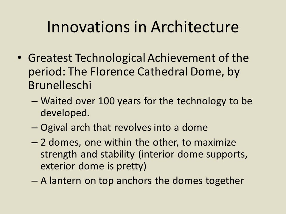 Innovations in Architecture