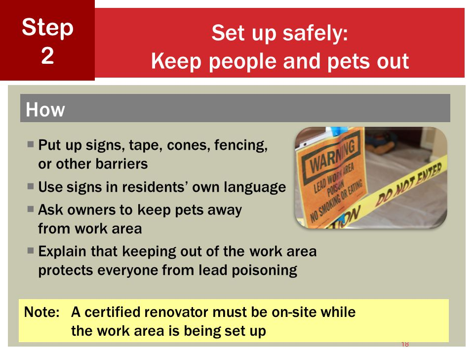 Set up safely: Keep people and pets out