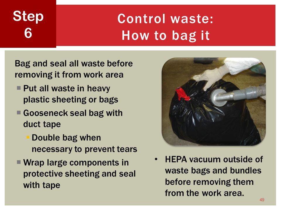 Control waste: How to bag it
