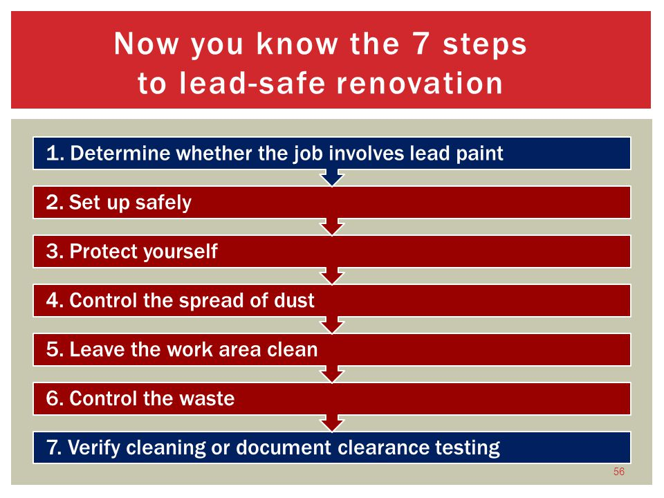 Now you know the 7 steps to lead-safe renovation