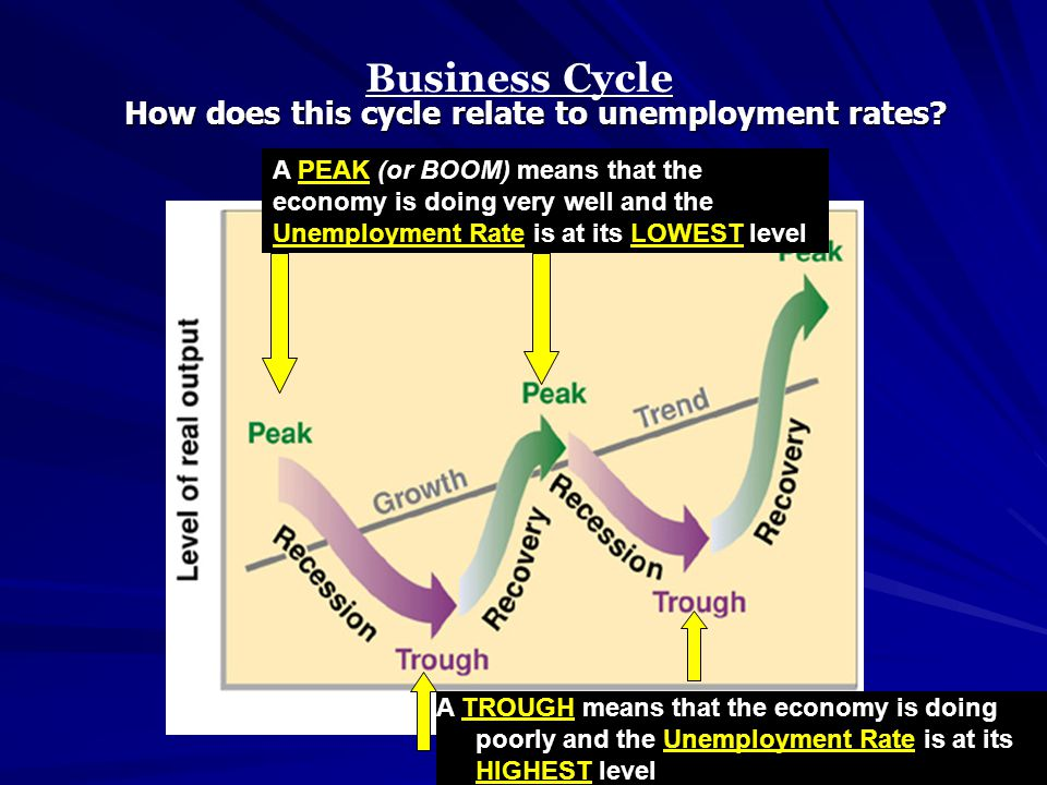 Business Cycle How does this cycle relate to unemployment rates