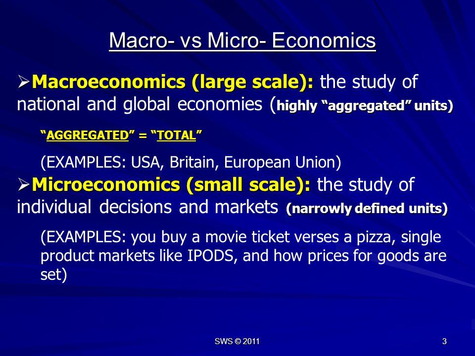 Macro- vs Micro- Economics