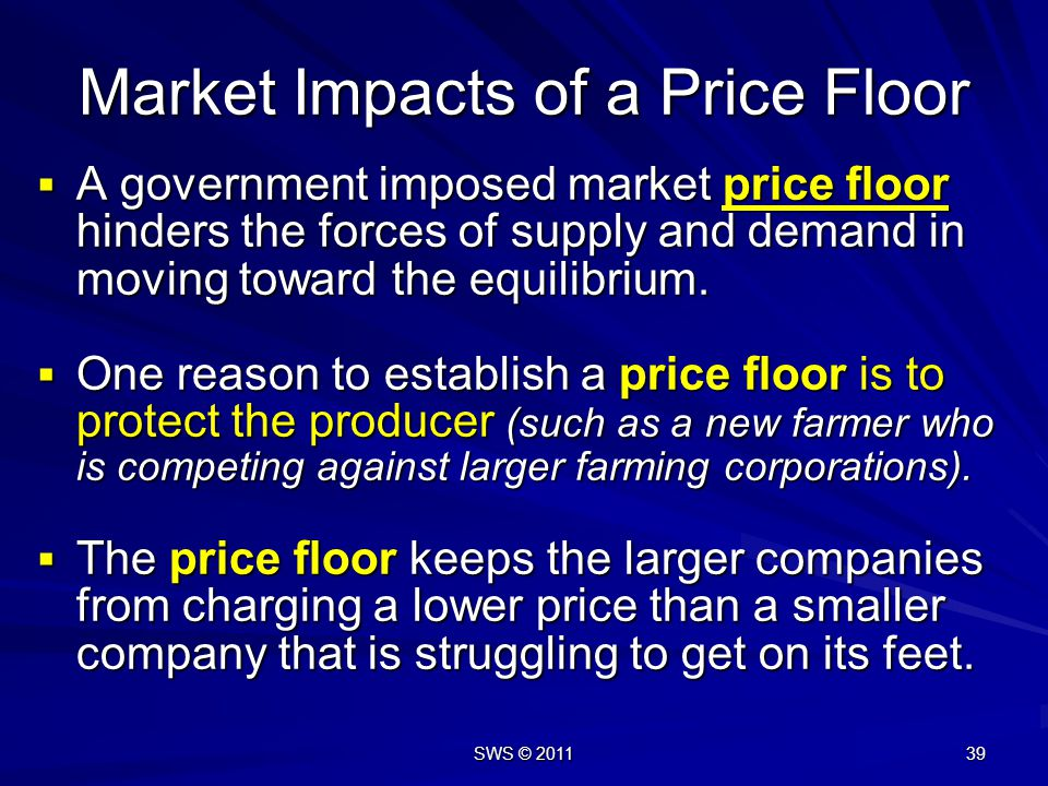 Market Impacts of a Price Floor