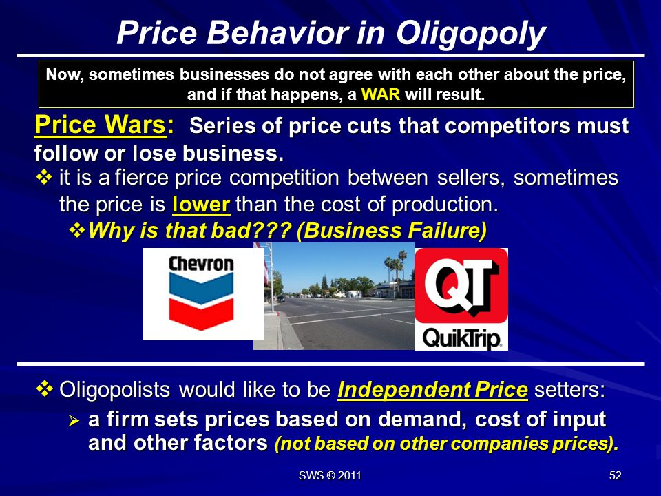 Price Behavior in Oligopoly