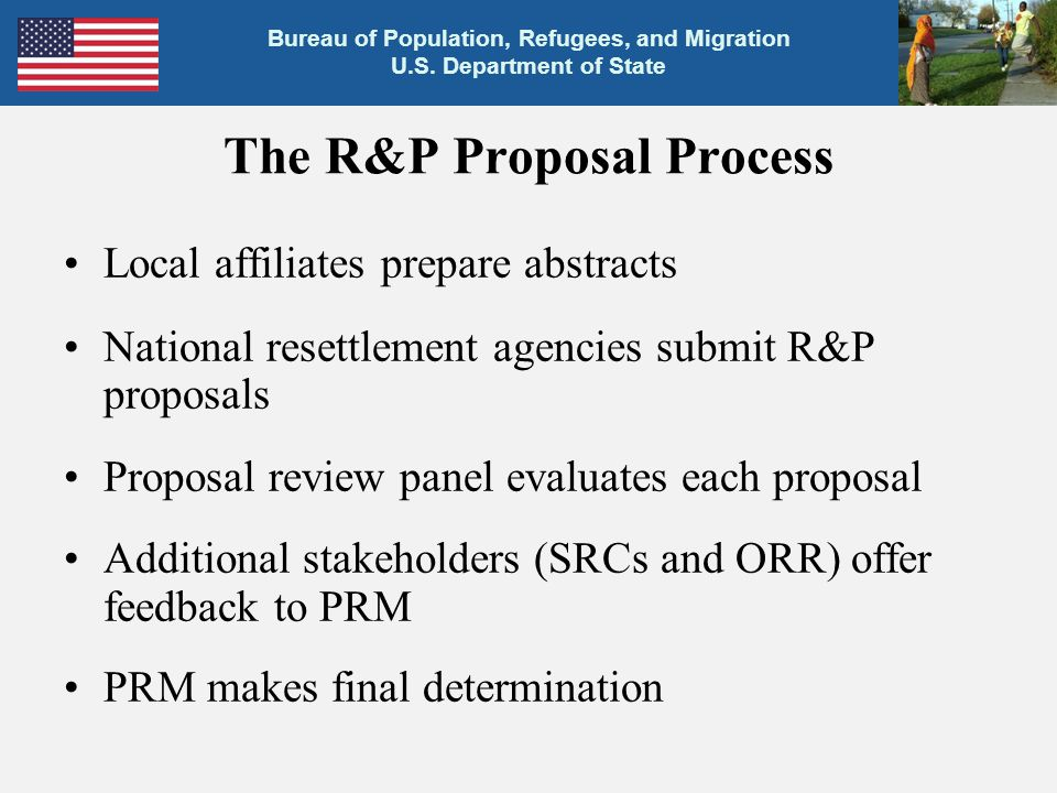The R&P Proposal Process