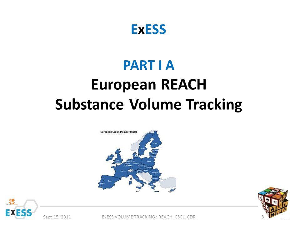 ExESS PART I A European REACH Substance Volume Tracking