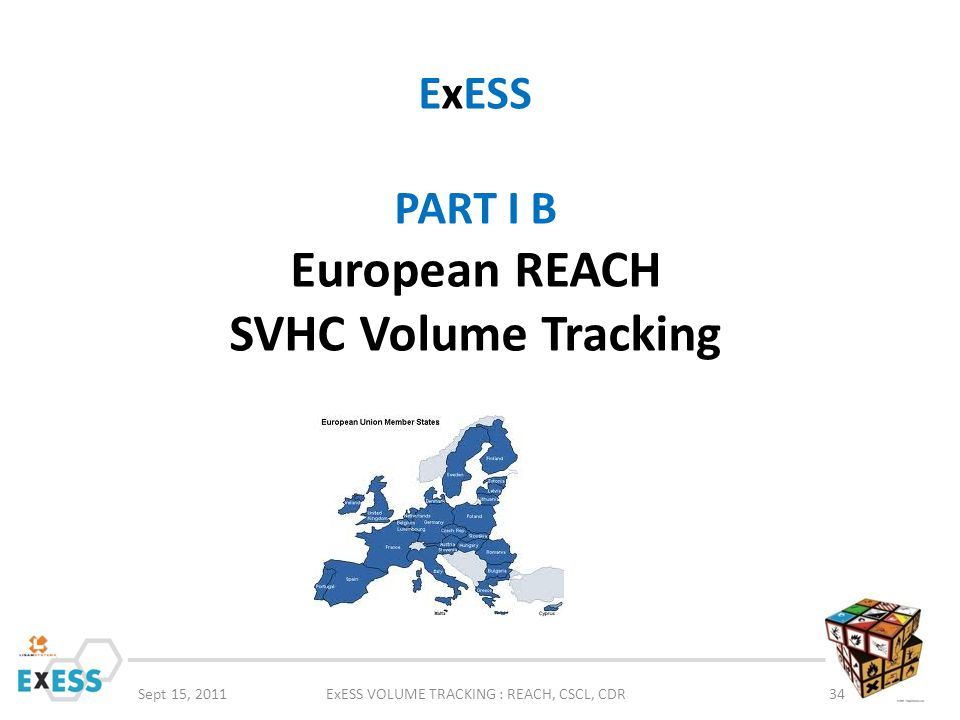 ExESS PART I B European REACH SVHC Volume Tracking