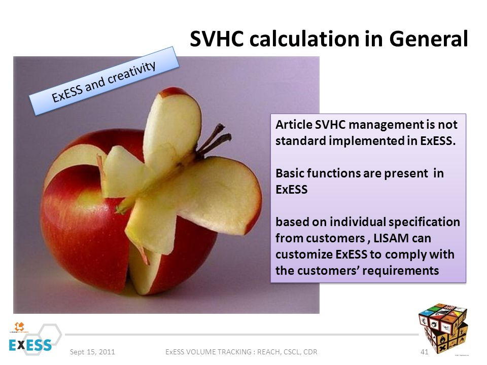 SVHC calculation in General