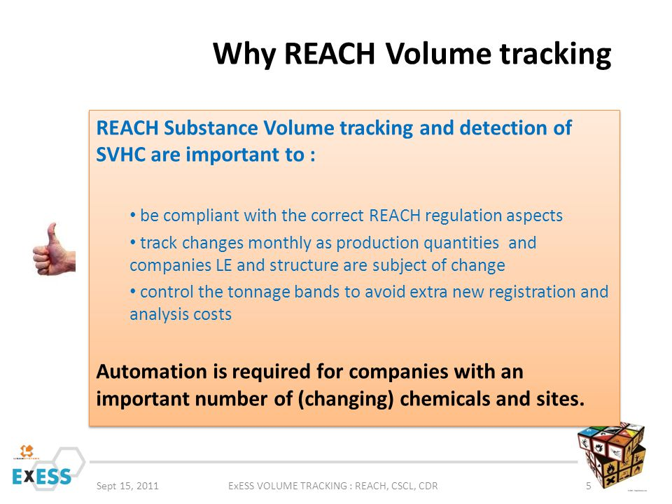 Why REACH Volume tracking