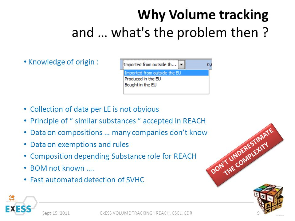 Why Volume tracking and … what s the problem then