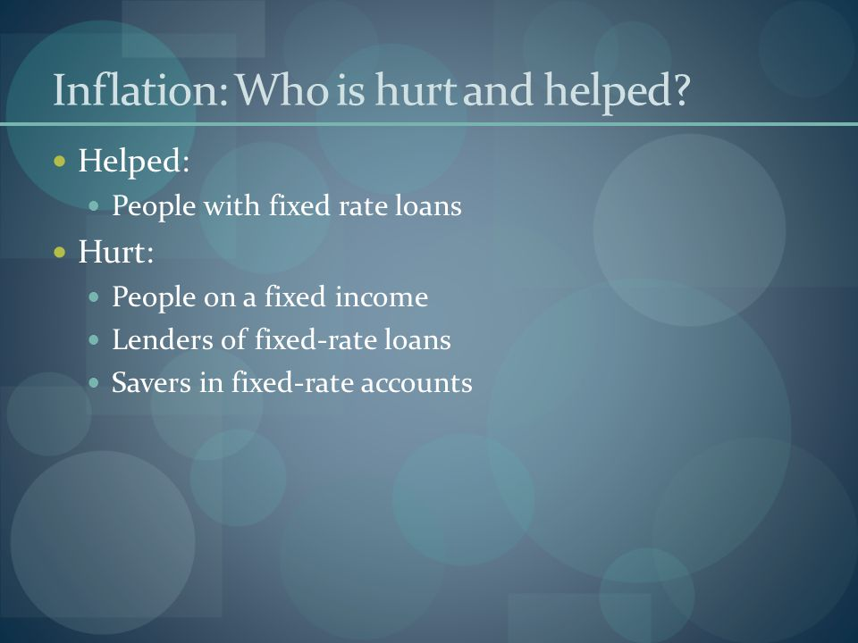 Inflation: Who is hurt and helped