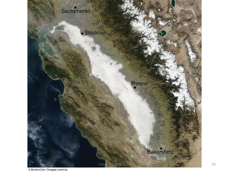 FIGURE 5.6 Visible satellite image of dense radiation fog in the