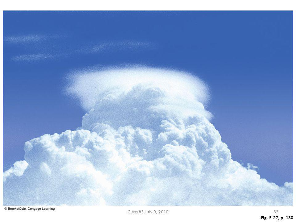Figure 5.27 A pileus cloud forming above a developing cumulus cloud.