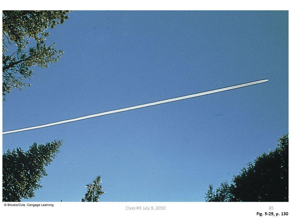 Figure 5.29 A contrail forming behind a jet aircraft. Class #3 July 9, 2010 Fig. 5-29, p. 130