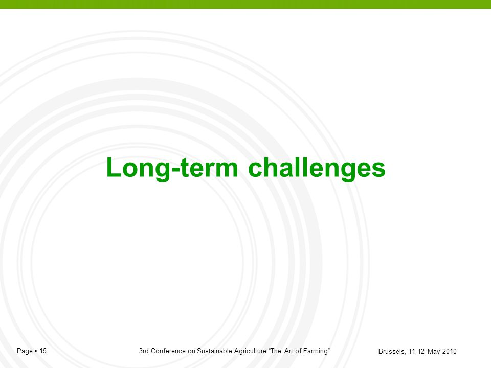 Long-term challenges