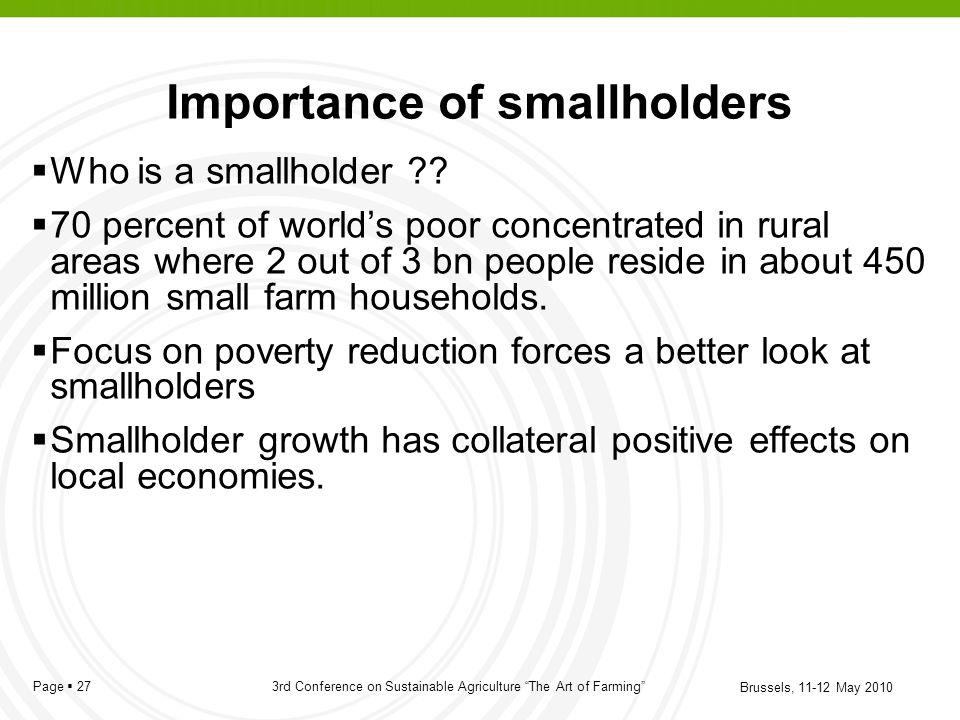 Importance of smallholders