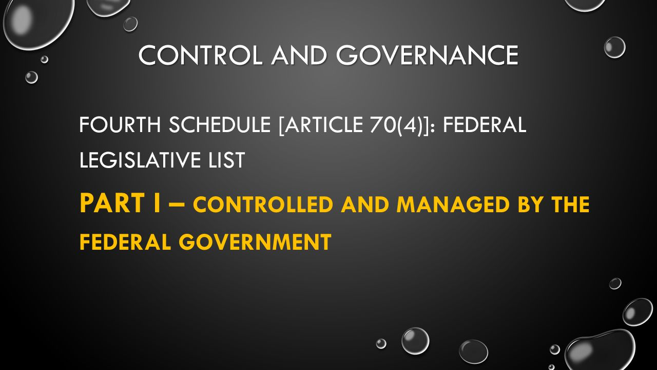 Control and governance