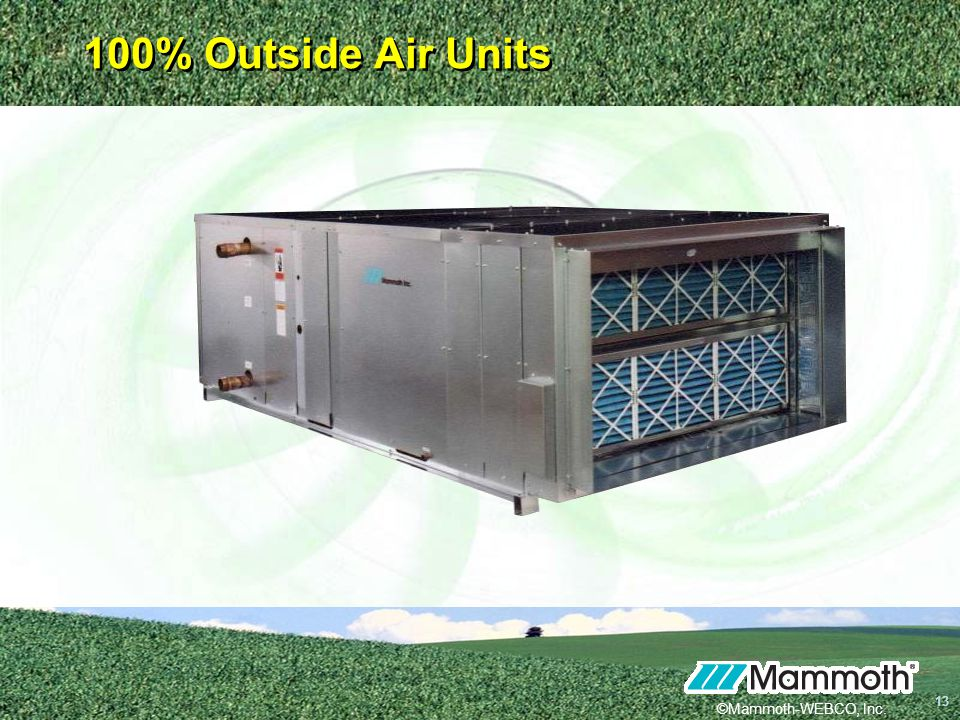 100% Outside Air Units