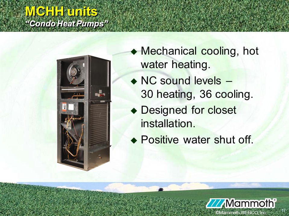 MCHH units Condo Heat Pumps