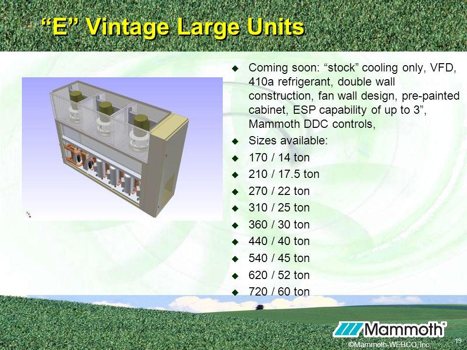 E Vintage Large Units