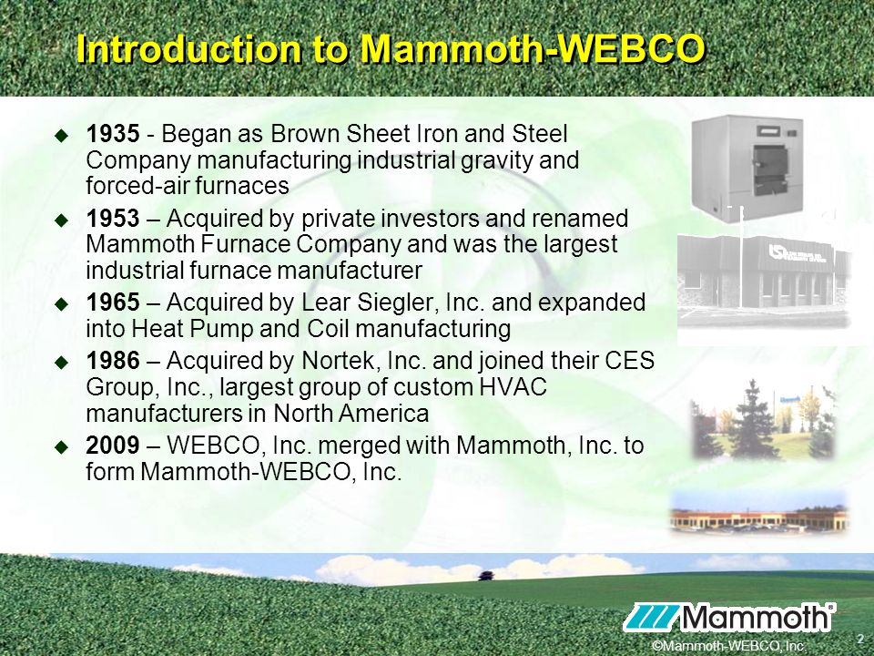 Introduction to Mammoth-WEBCO