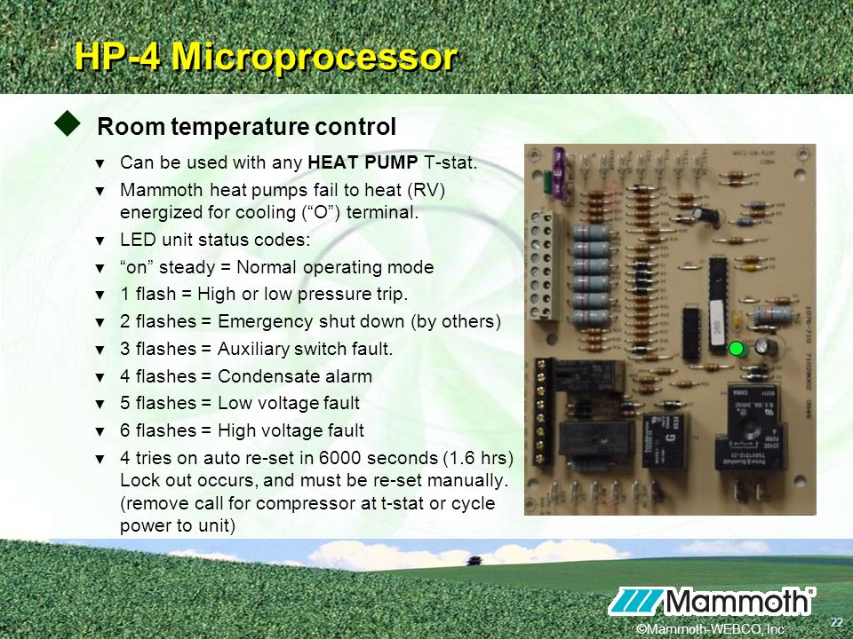Room+temperature+control mammoth water source heat pumps ppt video online download mammoth heat pump wiring diagram at nearapp.co