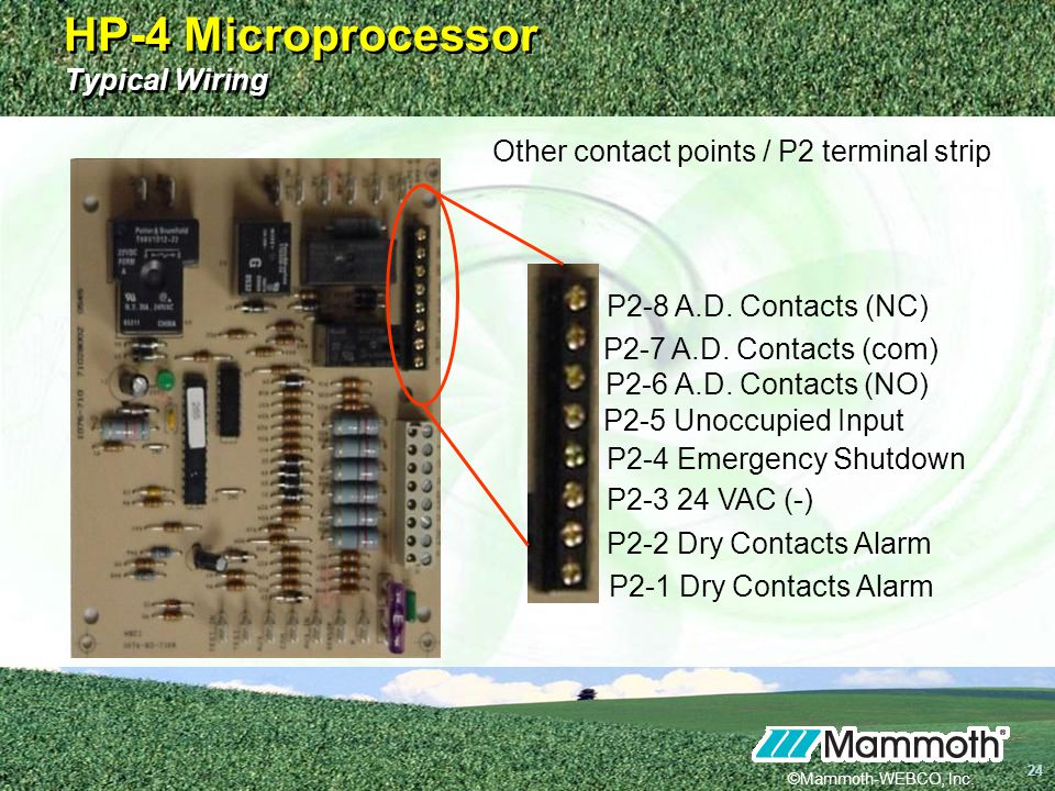 HP-4 Microprocessor Typical Wiring