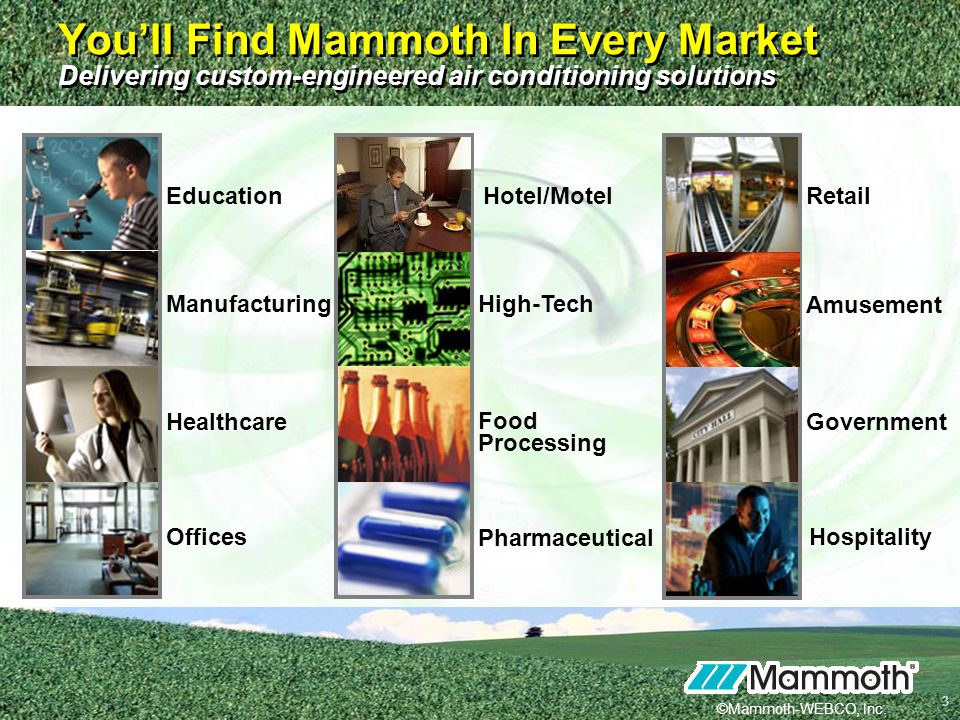You'll Find Mammoth In Every Market Delivering custom-engineered air conditioning solutions