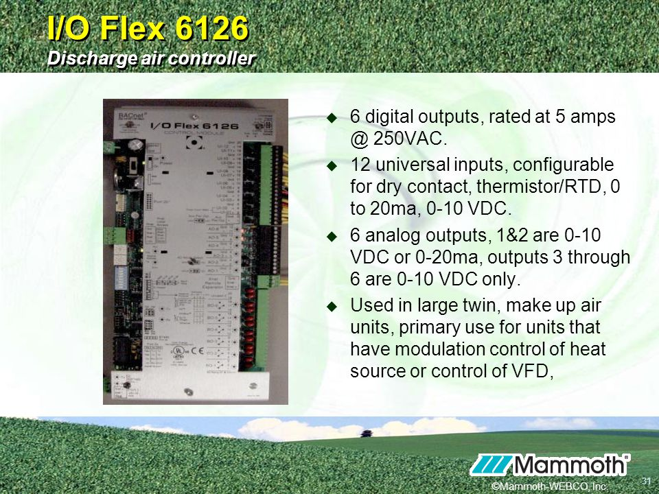 I/O Flex 6126 Discharge air controller
