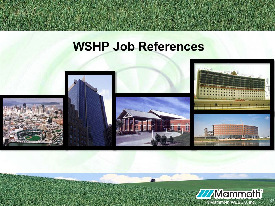 WSHP Job References