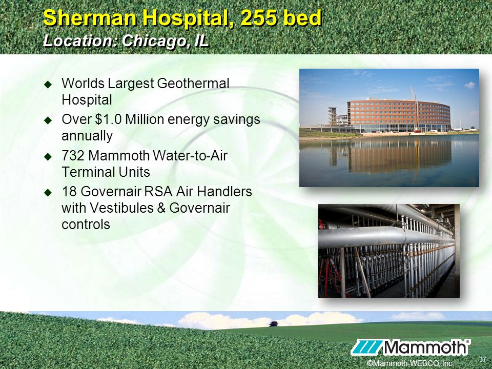 Sherman Hospital, 255 bed Location: Chicago, IL
