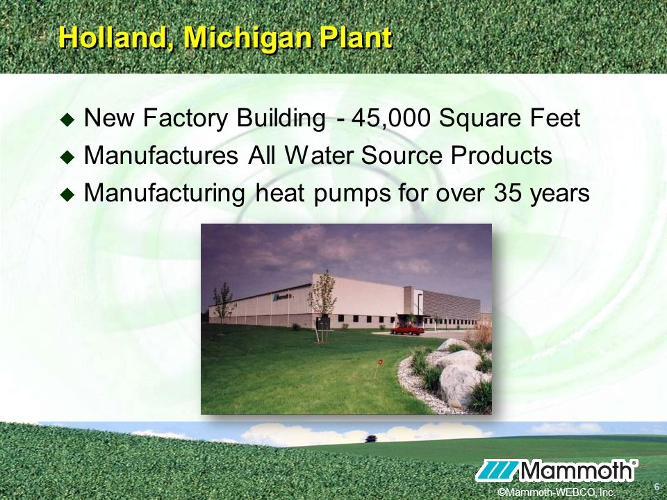 Holland, Michigan Plant