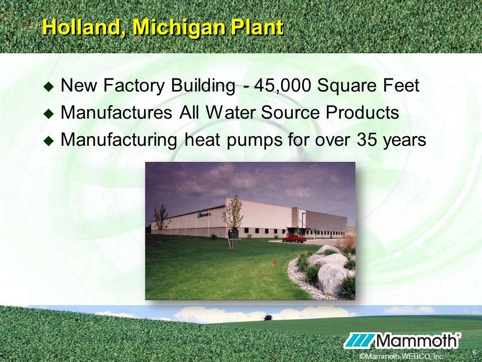 Holland, Michigan Plant