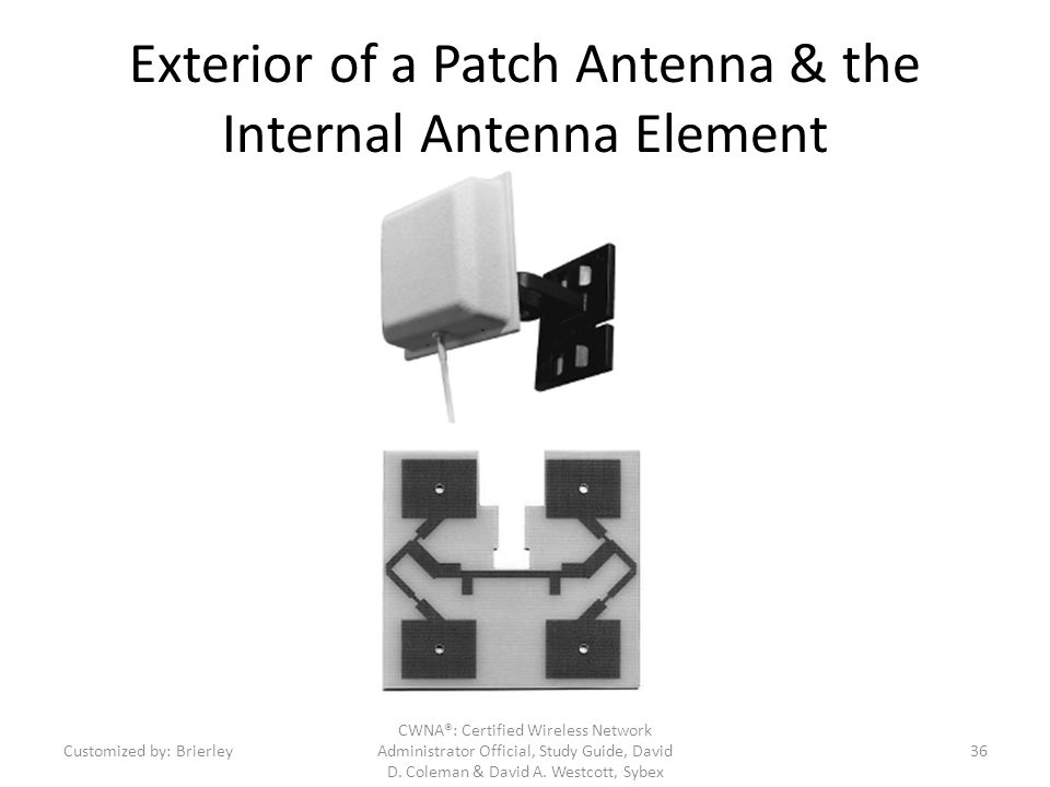 Exterior of a Patch Antenna & the Internal Antenna Element
