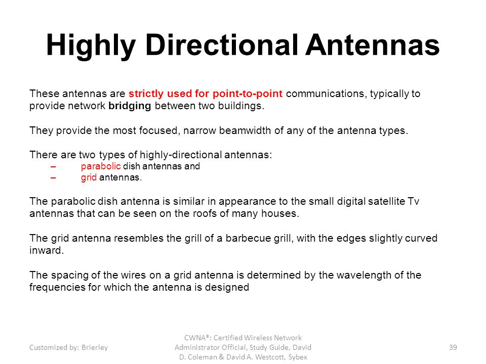 Highly Directional Antennas