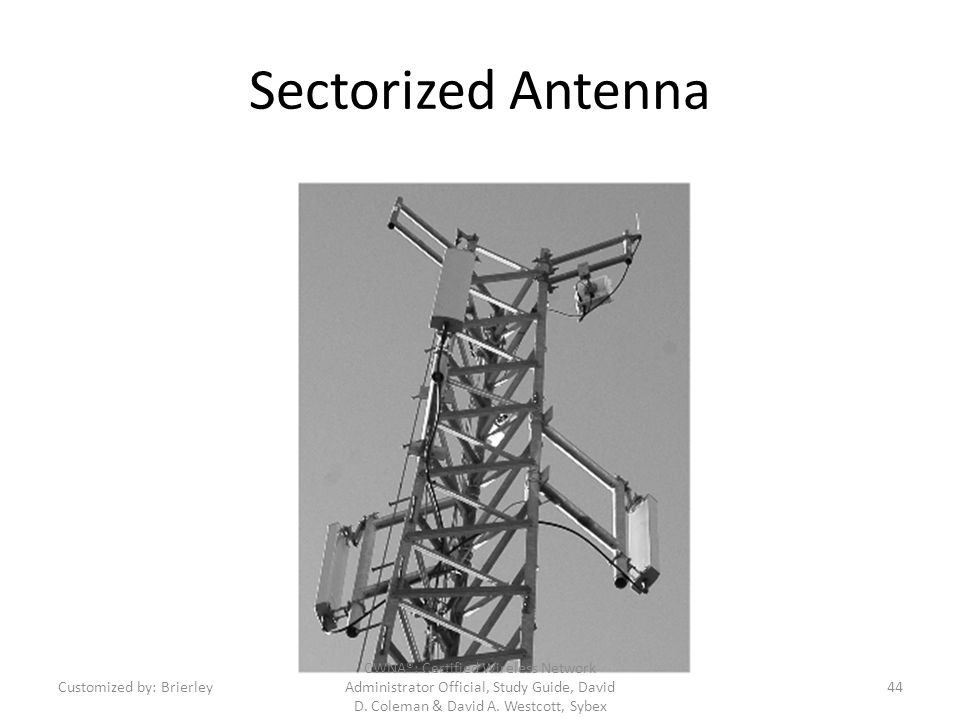 Sectorized Antenna Customized by: Brierley.