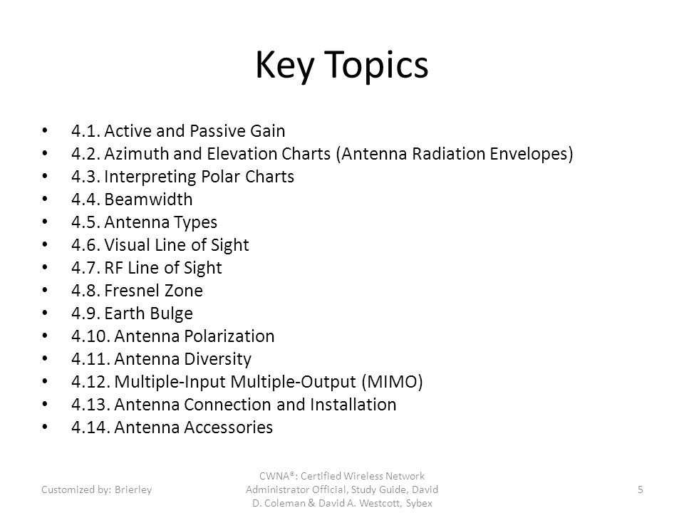 Key Topics 4.1. Active and Passive Gain