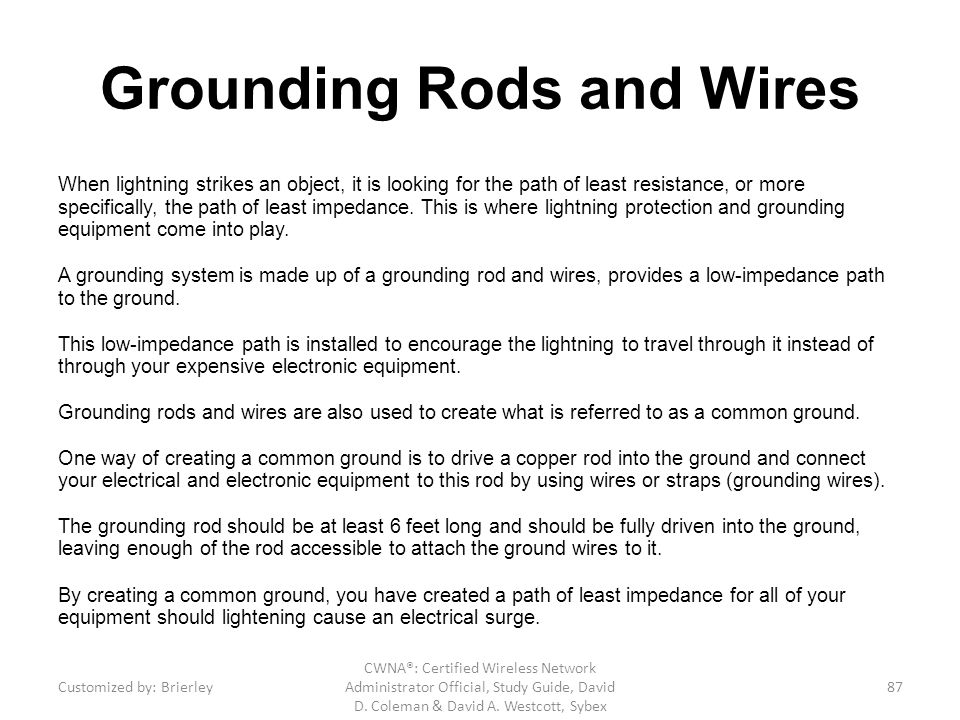 Grounding Rods and Wires