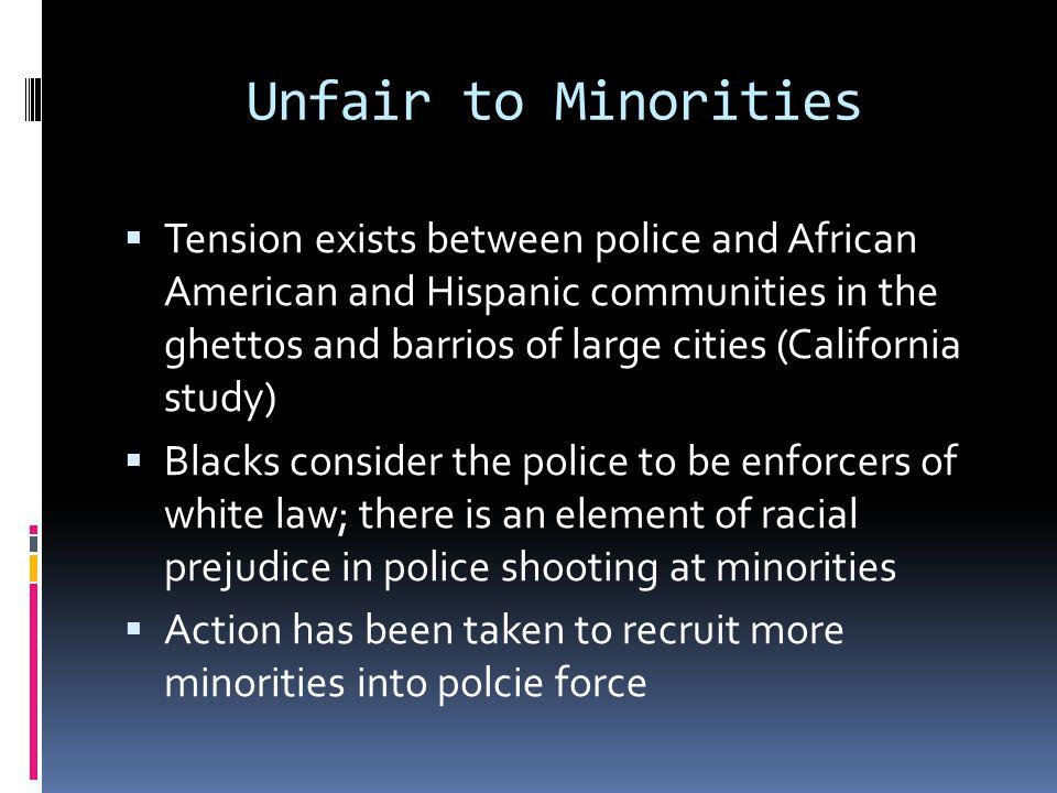 Unfair to Minorities