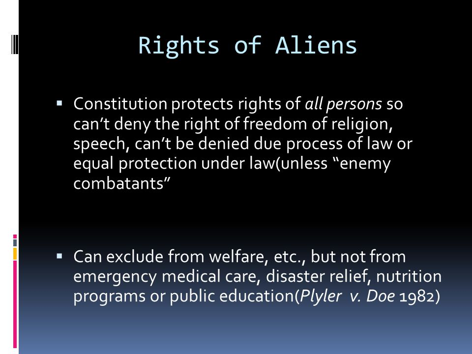 Rights of Aliens